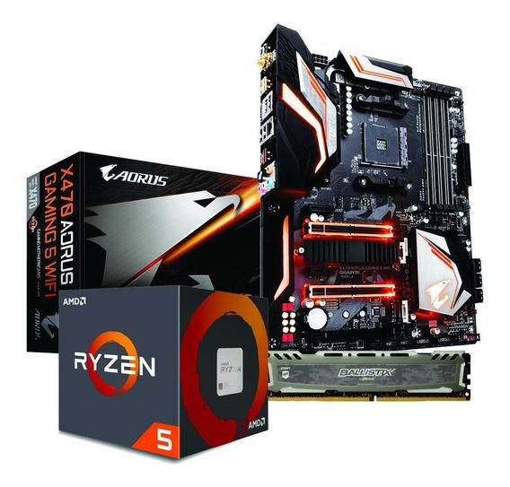 Ryzen 5 2600x X470 Aorus Gaming 5 Wi-fi 8gb Bls 3000mhz