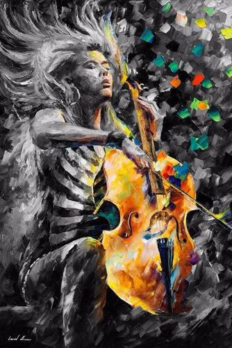 Poster Afremov 65x100cm Decoração Arte Musica Som
