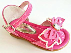 Sandália Infantil Menina Flor Di Milla Pink Verniz