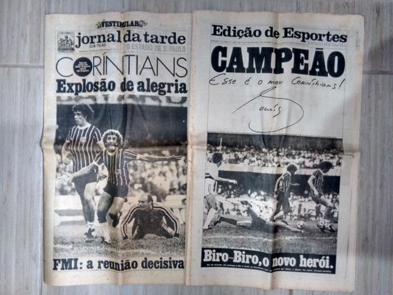 Jornal Da Tarde 5221 Corinthians Campeão Paulista 1982 C326