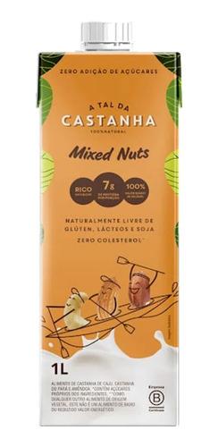 Imagem 1 de 3 de Bebida Mixed Nuts A Tal Da Castanha 1l