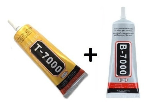 Kit Cola B-7000 Transparente 110ml+ Cola T-7000 Preta 110ml
