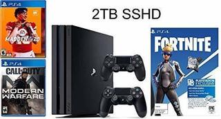 Sony Playstation Ps4 2tb + 2 Controles + 3 Juegos Caja Cerra