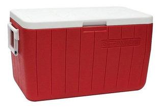 Caixa Térmica Coleman 48qt, 45,4 Litros, Vermelha
