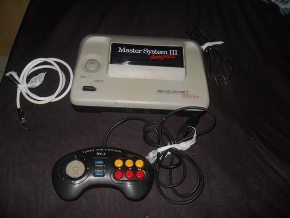 Video Game Master System 3 Com Sonic Na Memória