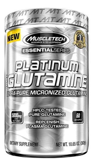 Glutamina Platinium 302 Gr Muscletech Ultra Pura Micronizada