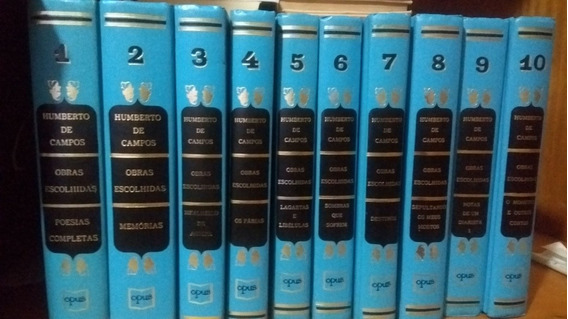 Coletânea Literária Com 10 Livros De Humberto Campos.