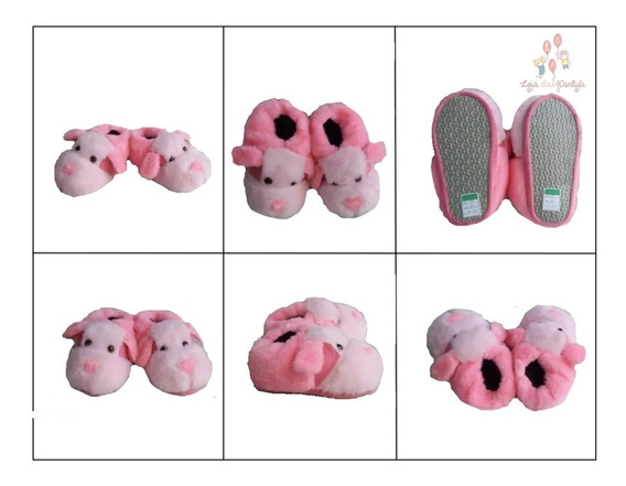 Pantufa Sapatilha Cachorro Pink Rosa Oferta Infantil Adulto