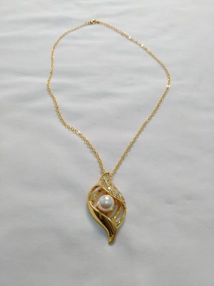 Corrente Com Pérola (bijuteria Fina) N.8