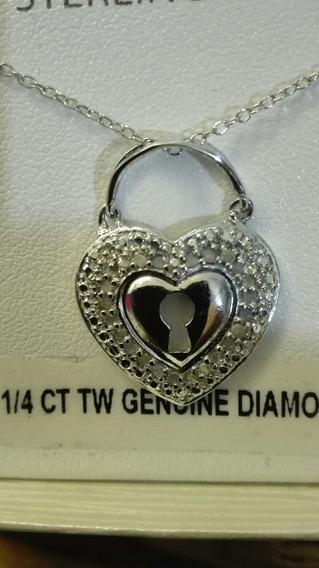 Dije De Diamantes Naturales 0.25 Cts