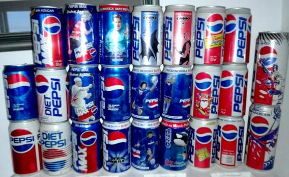 Coleccion 18 Latas Antiguas Pepsi-cola