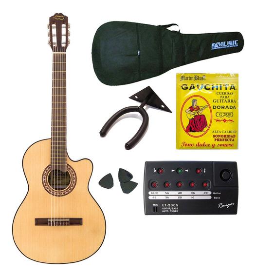 Gracia M10 Combo Guitarra Clasica + Funda + Afinador + Acc