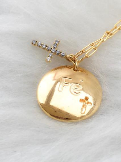 Gargantilha Dourada Banhada A Ouro Semijoia Com Garantia