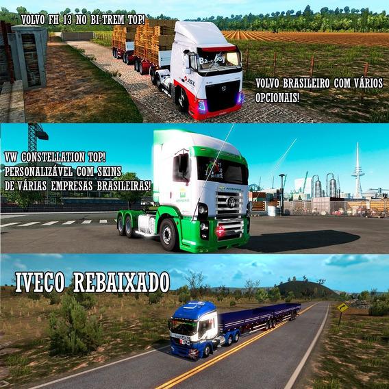 Euro Truck Simulator 2 Brasil Total 2018 C/ Caminhões Br