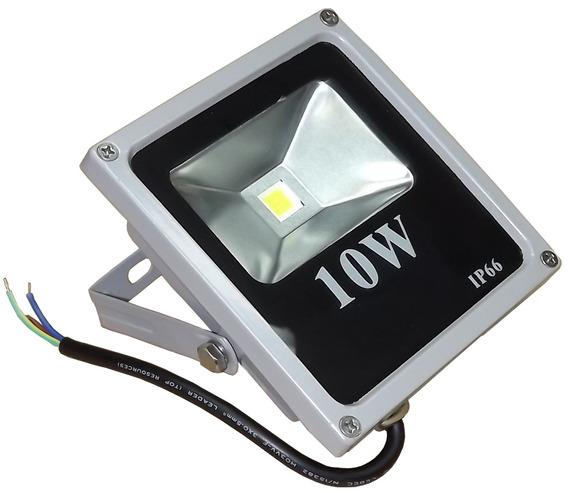 Refletor Led 10w-bivolt Slim - Luz Branca Ip66-jng