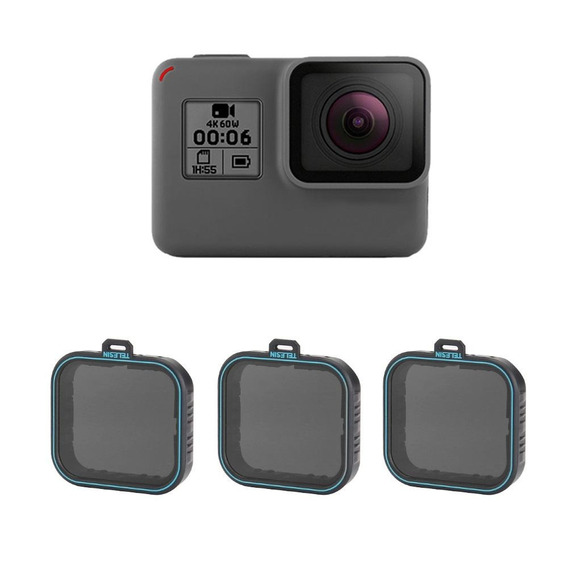 Proaventura Kit Filtro Nd 4/8/16 Hero 5/6/7 Modelos Blacks