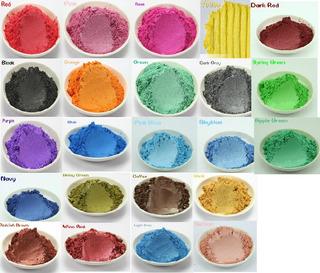 Paquete De 8 Colorantes Mica Para Jabón, Sombras, Rubor