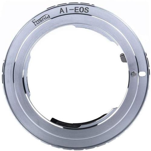 Imagen 1 de 5 de Anillo Adaptador Lente Nikon Ai  A Canon Eos + Tapa