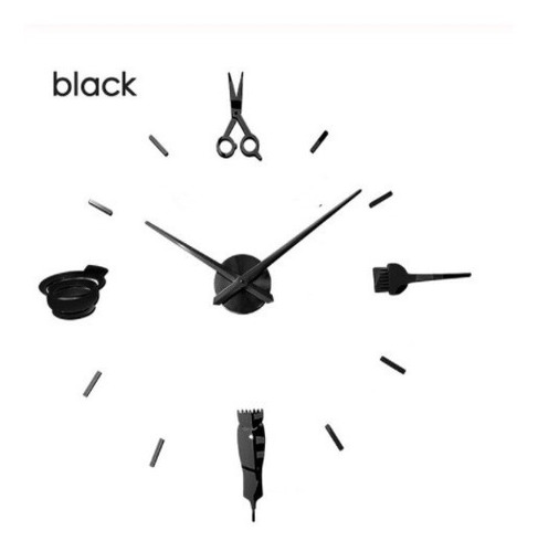 Reloj De Pared Luminoso 3d Diseño Moderno Peluquería