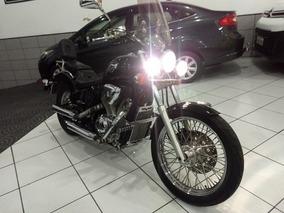 Honda Shadow Vlx 600 Cc 2001 Preta Escape Bolha Pedaleira