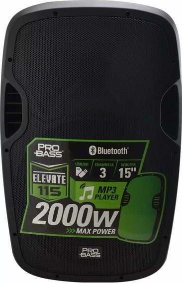Caixa Amplificada Novik Pro Bass Elevate, 2000w, Bluetooth