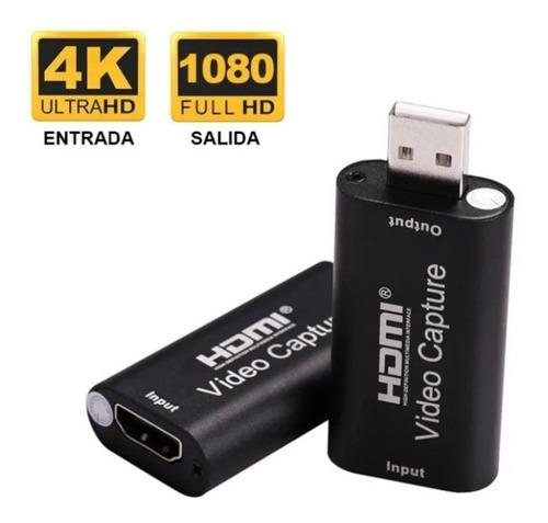 Capturadora De Video Hdmi Full Hd 1080 30 Fps Ó 720 60 Fps