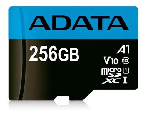 Imagen 1 de 3 de Memoria Micro Sd Adata 256gb Clase 10 A1, V10, U1 Full Hd