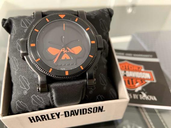 Relógio Harley Davidson Bulova Skull