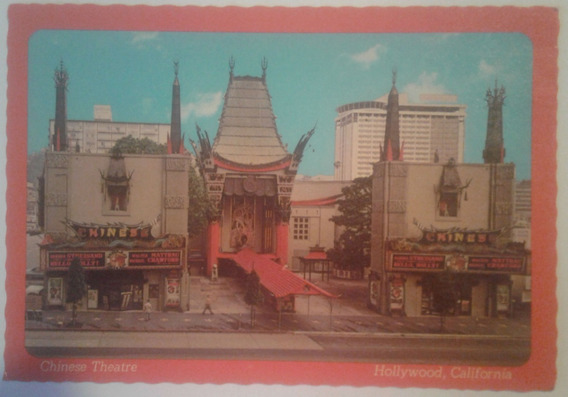 Antigua Postal Chinese Theatre Hollywood California