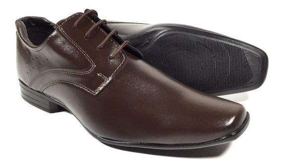 Sapato Social Masculino Bico Fino Cadarço Muito Barato 02