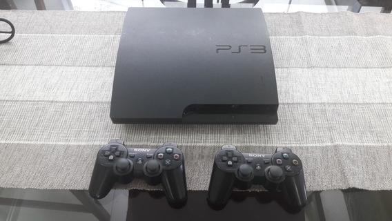 Playstation 3 + 2 Controles + Muitos Jogos