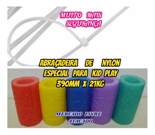 Abraçadeira De Nylon 21kg Branca 390mm P/kid Play Kit C/100