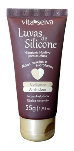 Luvas De Silicone Hidratante Para Mãos Vita Seiva 55g