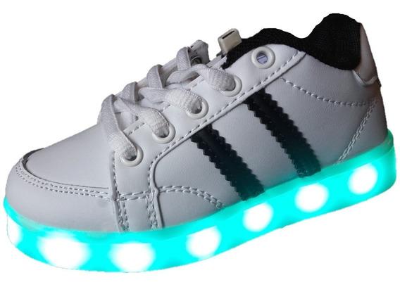 Zapatillas Con Luces Luz Led + Cordones Led + Envios Gratis