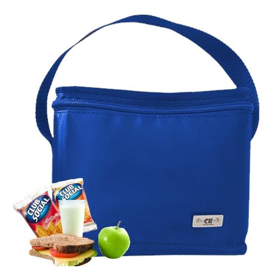 Bolsa Lancheira Termica Pequena Intantil Azul Ck