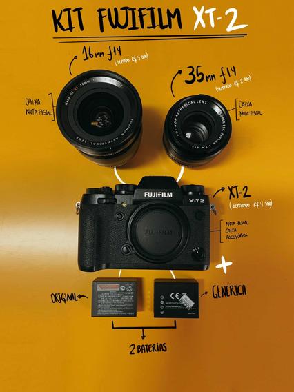 Kit Fujifilm Xt-2 + 35mm 1.4 + 16mm 1.4
