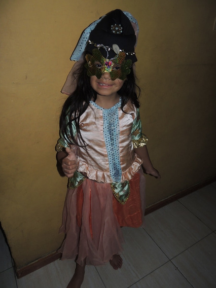 Elegante Disfraz De Niña De Princesa Egipcia Talla 6-8 Años