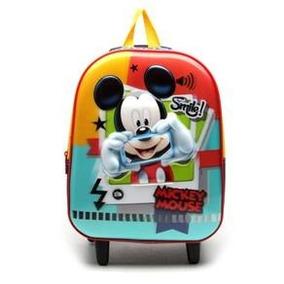 Mochilete Infantil Mickey - Sem Rodinhas