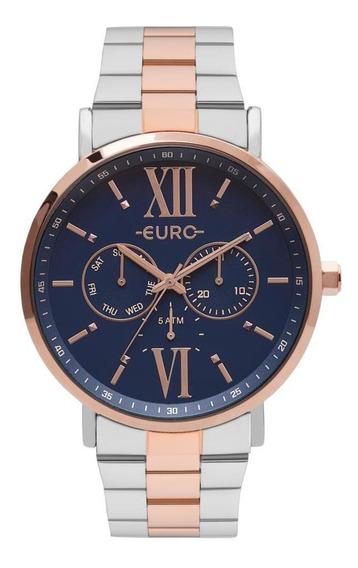 Relógio Feminino Euro Eu6p29ahbbp/5a 43mm Aço Bicolor