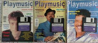 Lote Revistas Playmusic - 6 Edições - Com Disquete