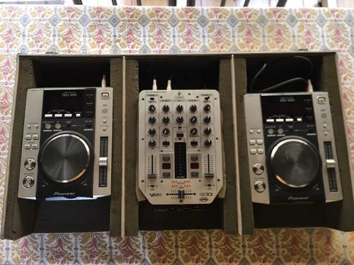 Par De Cdj Pioneer 200s Com Mixer Behringer