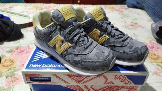Tênis Nb New Balance 574 Camuflado Cinza Original