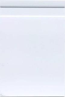 Rodape Poliestireno 15cm Frisado Branco Metro F15 Barra 2,20