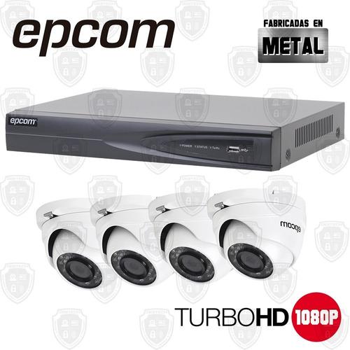 Kit Sistema Cctv 4 Camara Seguridad Domo Turbohd 1080p Cloud
