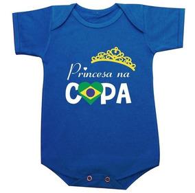 Body Princesa Na Copa 2018 Brasil Russia Azul