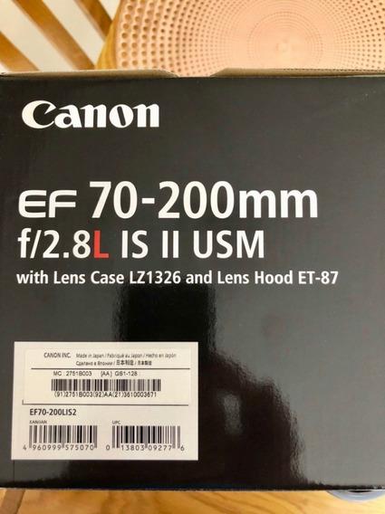 Lente Canon Ef 70-200mm F / 2.8l Is Ii Usm