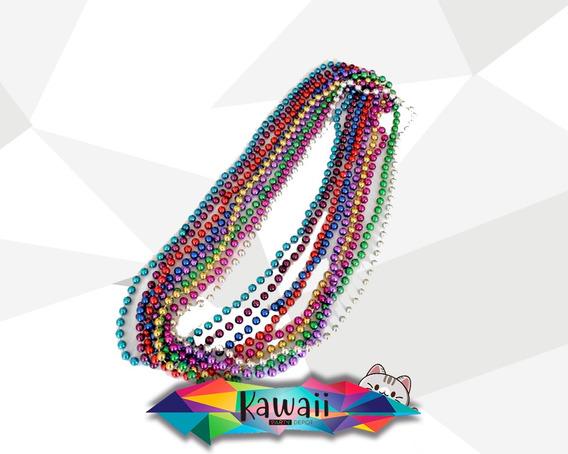 Collar De Perlas Para Fiesta - 12 Piezas