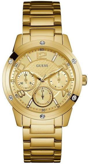 Relógio Guess Feminino Multifunção Dourado W0778l2