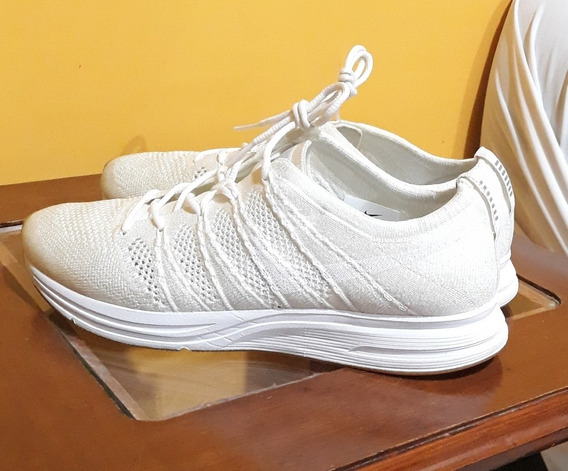 Tenis Nike Flyknit Blanco Gym Crossfit Pesas Correr