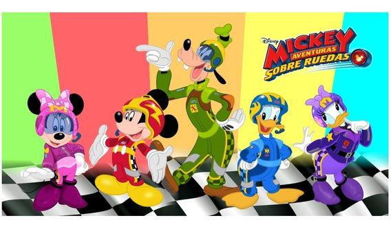 Poster De Lona (42x79cm) Mickey Aventura Sobre Ruedas